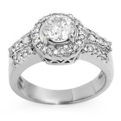 Natural 1.65 ctw Diamond Ring 14K White Gold