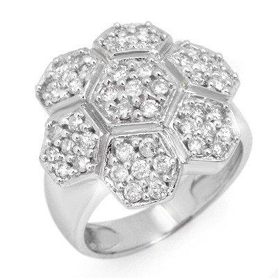 Natural 1.33 ctw Diamond Ring 14K White Gold