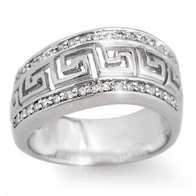 Natural 0.33 ctw Diamond Ring 10K White Gold