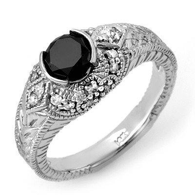 Natural 1.20 ctw Diamond Ring 14K White Gold