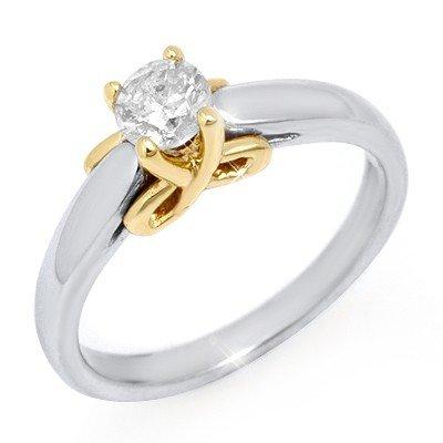 Natural 0.50 ctw Diamond Ring 14K Multi tone Gold