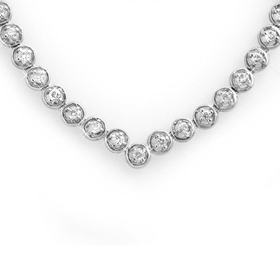 Natural 4.0 ctw Diamond Necklace 10K White Gold