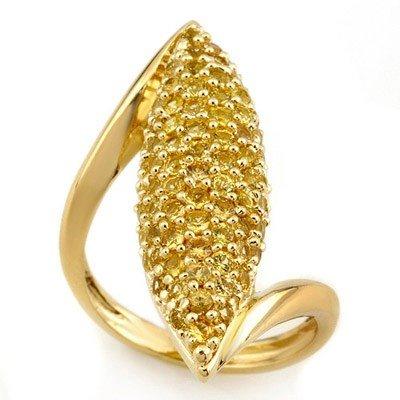 Genuine 3.0 ctw Yellow Sapphire Ring 14K Yellow Gold
