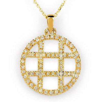 Natural 2.0 ctw Diamond Necklace 14K Yellow Gold