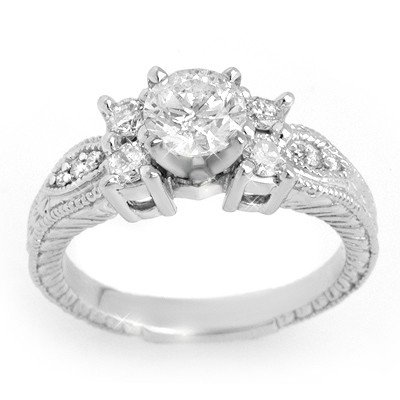 Natural 1.25 ctw Diamond Ring 14K White Gold