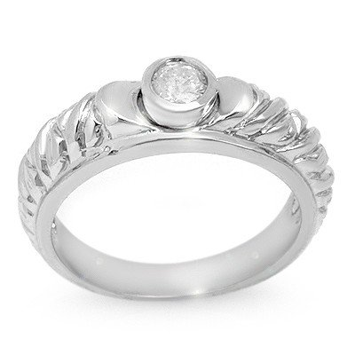 Natural 0.20 ctw Diamond Ring 14K White Gold