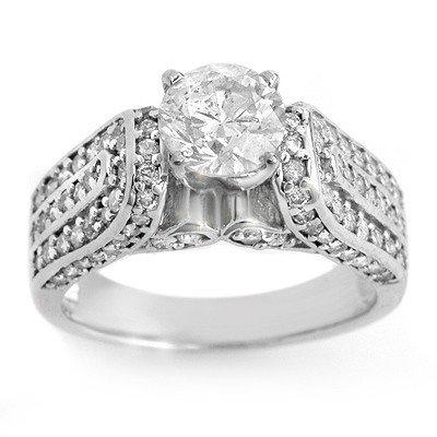 Natural 2.25 ctw Diamond Ring 14K White Gold