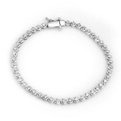Natural 1.50 ctw Diamond Bracelet 10K White Gold