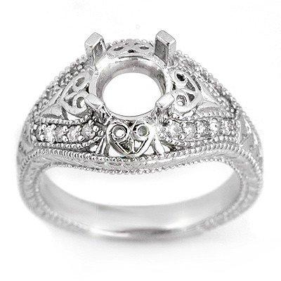 Natural 0.33 ctw Diamond Ring 14K White Gold