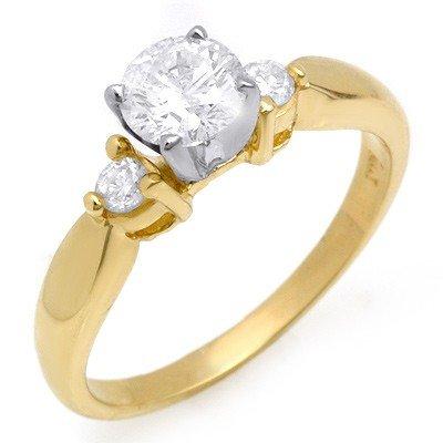 Natural 0.75 ctw Diamond Ring 14K Yellow Gold