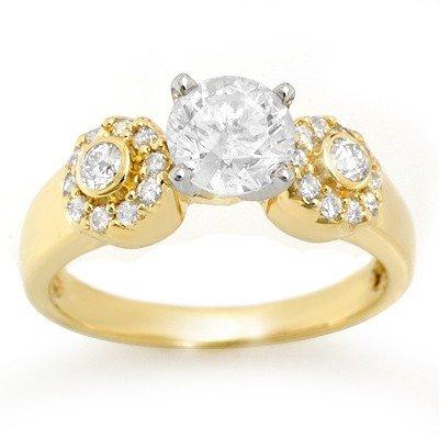 Natural 1.38 ctw Diamond Ring 14K Yellow Gold