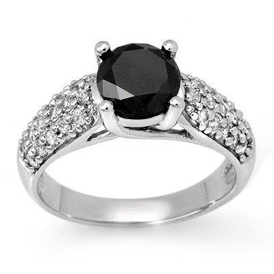 Natural 2.05 ctw White & Black Diamond Ring 14K Gold