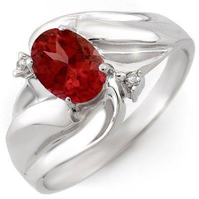 Genuine 1.02 ctw Pink Tourmaline & Diamond Ring Gold