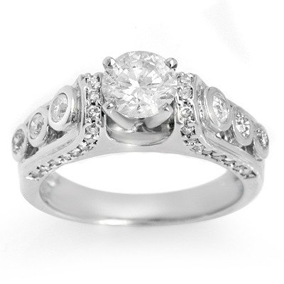 Natural 1.75 ctw Diamond Ring 14K White Gold