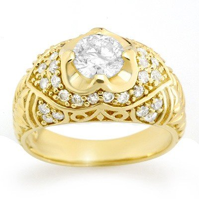 Natural 1.65 ctw Diamond Ring 14K Yellow Gold
