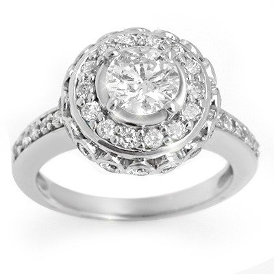 Natural 2.04 ctw Diamond Ring 14K White Gold