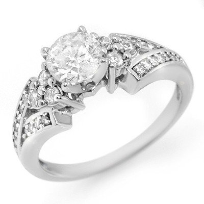 Natural 1.42 ctw Diamond Ring 14K White Gold