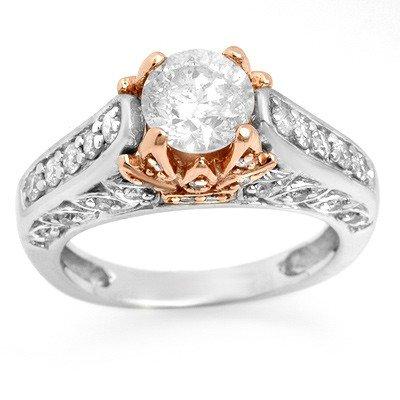Natural 2.01 ctw Diamond Ring 14K Multi tone Gold