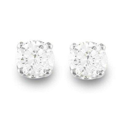 Natural 0.50 ctw Diamond Stud Earrings 14K White Gold
