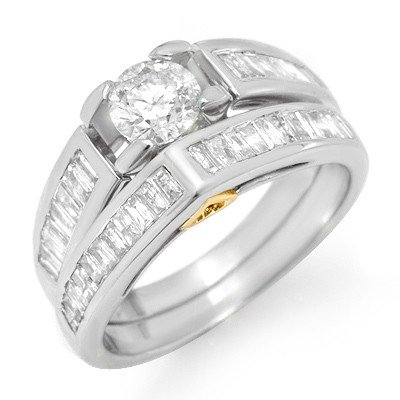 Natural 2.0 ctw Diamond Ring 14K White Gold