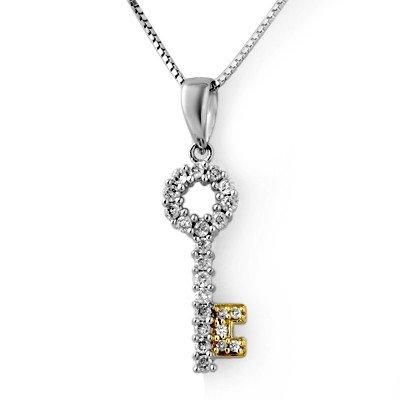 Natural 0.25 ctw Diamond Necklace 14K Multi tone Gold