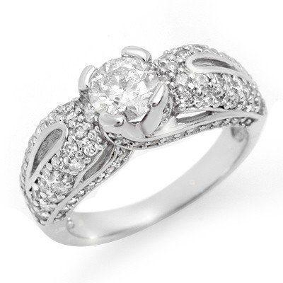 Natural 1.90 ctw Diamond Ring 14K White Gold