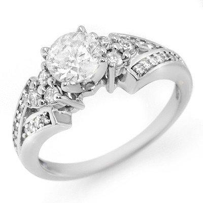 Natural 1.42 ctw Diamond Ring 14K White Gold