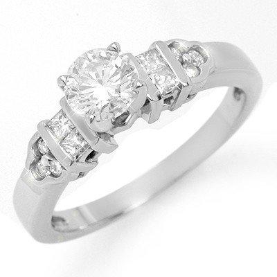 Natural 0.77 ctw Diamond Ring 14K White Gold