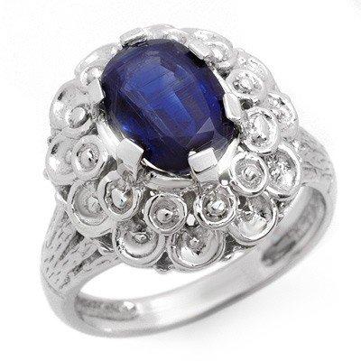 Genuine 2.50 ctw Ceylon Sapphire Ring 10K White Gold