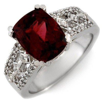 Genuine 3.5ctw Pink Tourmaline & Diamond Ring 14K Gold