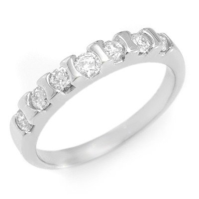 Natural 0.65 ctw Diamond Ring 14K White Gold