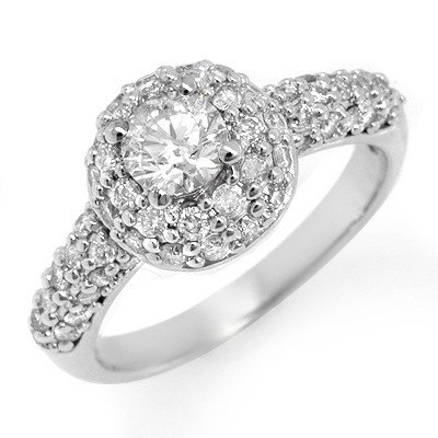 Natural 1.35ctw Diamond Anniversary Ring 14K White Gold