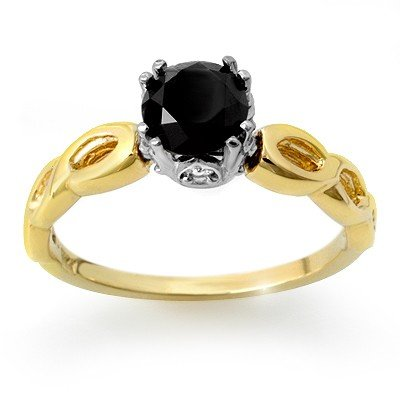 Natural 1.45 ctw Diamond Ring 14K Multi tone Gold