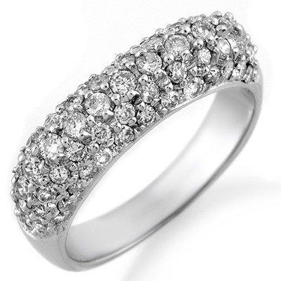 Natural 1.25 ctw Diamond Ring 14K White Gold