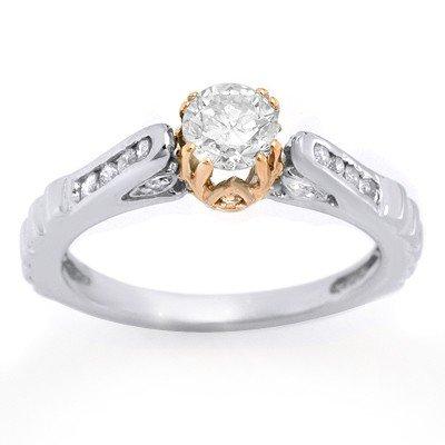 Natural 0.75 ctw Diamond Ring 14K Multi tone Gold