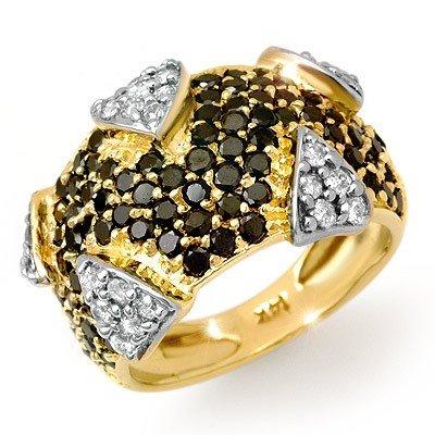 Natural 4.0 ctw Diamond Ring 14K Yellow Gold