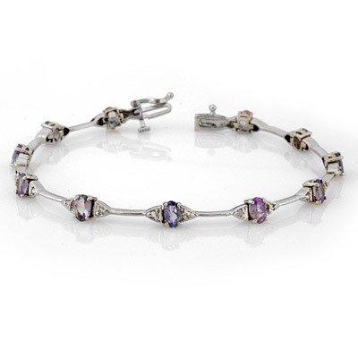 Genuine 2.30 ctw Tanzanite & Diamond Bracelet 14K Gold