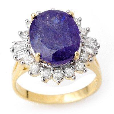 Genuine 8.03 ctw Tanzanite & Diamond Ring 14K Gold