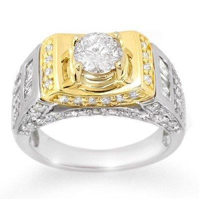 Natural 2.05 ctw Diamond Ring 14K Multi tone Gold