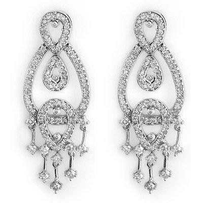 Natural 2.0 ctw Diamond Earrings 14K White Gold
