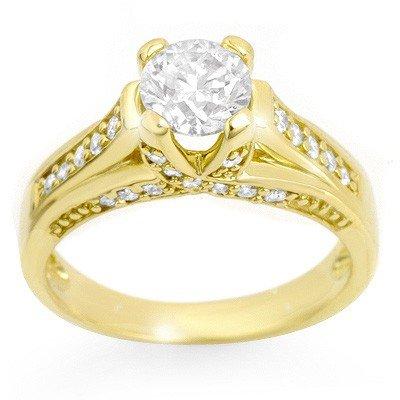 Natural 1.25 ctw Diamond Ring 14K Yellow Gold