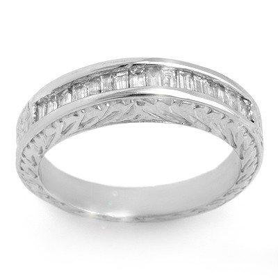Natural 1.33 ctw Diamond Ring 14K White Gold - Retails
