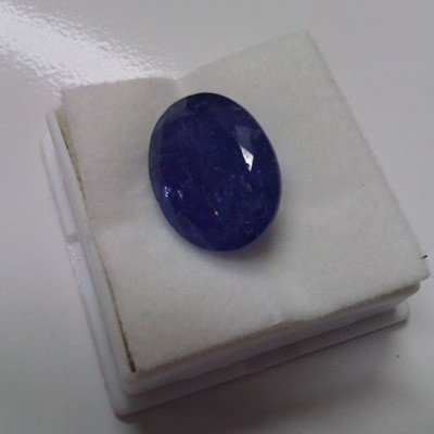 Loose 17.3 carat Natural Tanzanite Cushion cut AA Grade