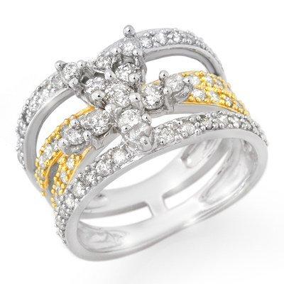 Overstock 1.50ctw Diamond Ladies Ring 14K White Gold -