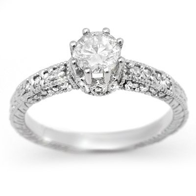 ACA Diamond 0.85ct Engagement Anniversary Ring 14K Gold