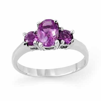 800290600: ACA Certified 0.85ctw Amethyst Ladies Ring W