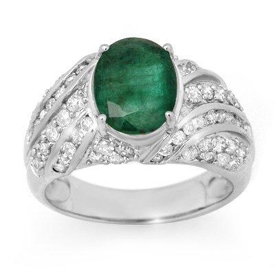 801499831A: Men's Ring 5.25ctw Certified Emerald & Diam