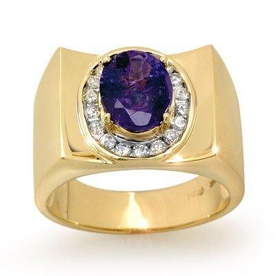 802490823: Overstock 2.83ctw Diamond & Tanzanite Men's