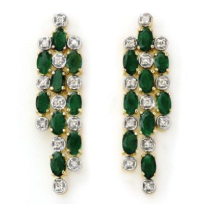 876299580A: Overstock 4.03ctw Diamond & Emerald Earring