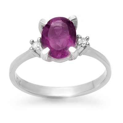 Vintage Style 1.53ctw Diamond & Amethyst Ring Gold